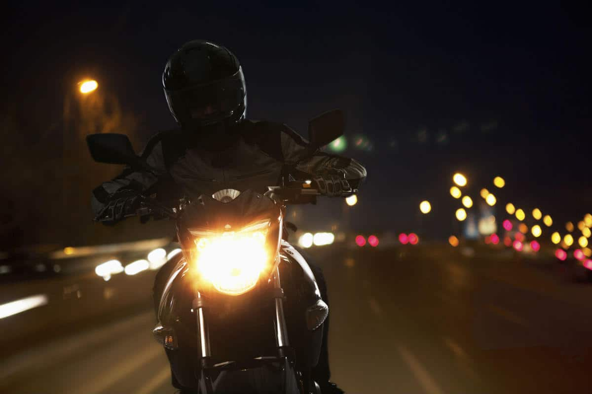 nighttime motorcycle accident
