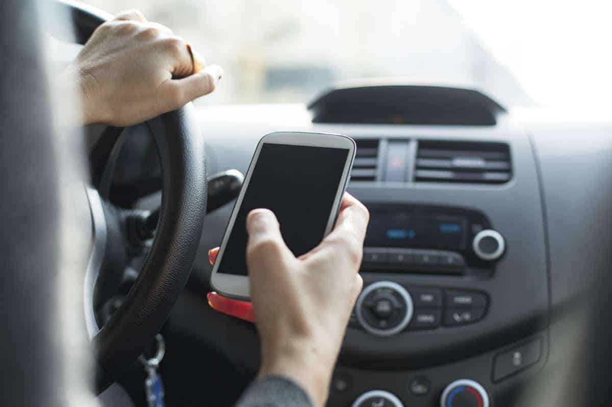 auto accident attorney texting driving