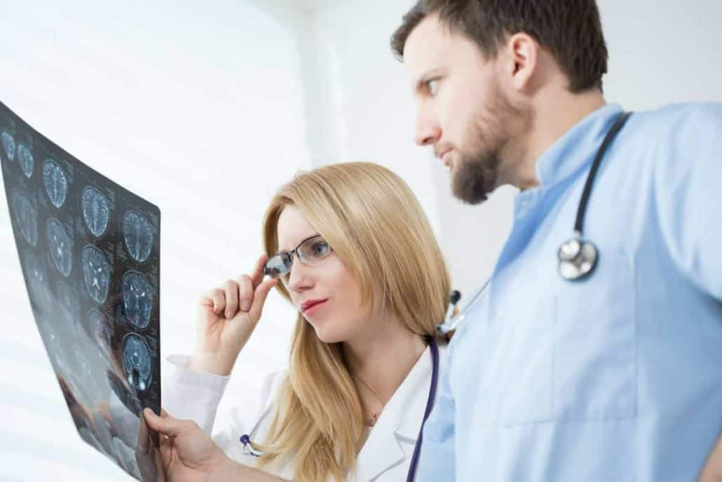 chicago doctors looking at MRI