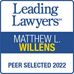 Leading Lawyers Badge Willens Injury Law Offices